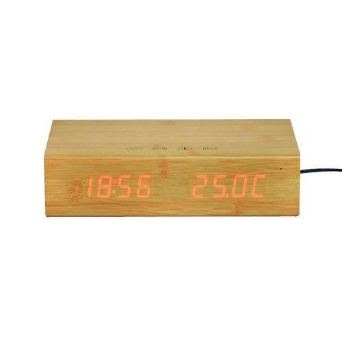 Rádio Relógio Bamboo