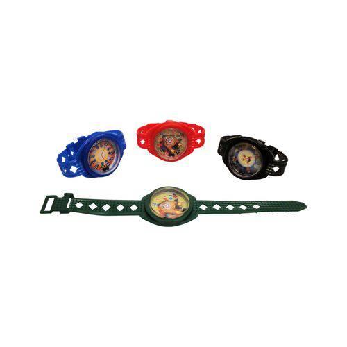 Relógio Desafio Colorido com Impresso - Pacote com 8 Unidades