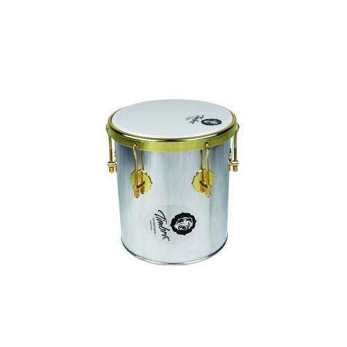 Repique Mão Timbra 10 X 30 Aluminio C/Aro Dourado
