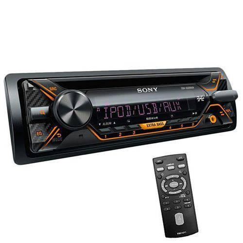 Reprodutor de Cd Automotivo Sony Cdx-g3200uv com USB/fm/auxiliar - Preto