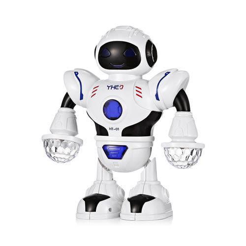 Robô Eletrônico Espacial Dança Robô com Música Led Light Ht