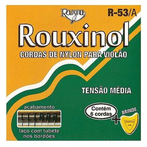 Rouxinol - Cordas para Violão Nylon Preto/dourada R53a