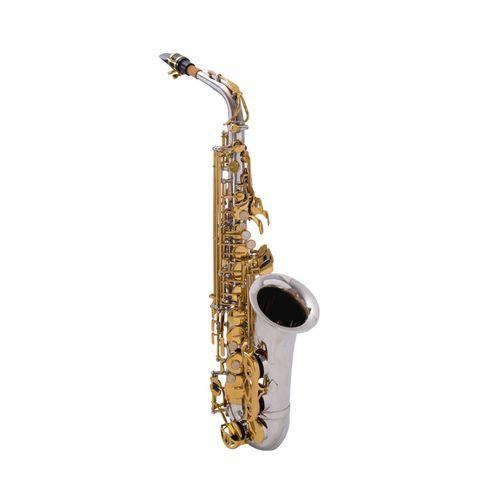 Sax Alto Prowinds Niquelado Chaves Douradas - PW320-NL
