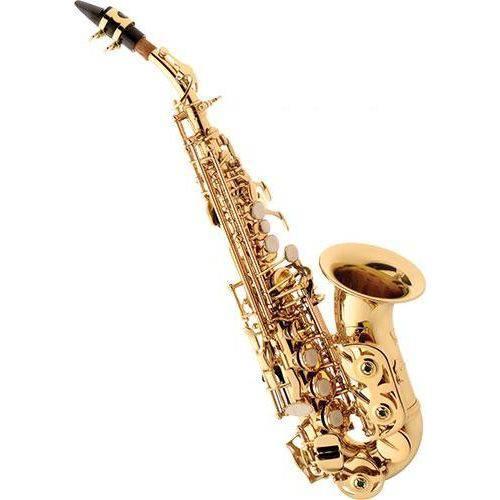 Sax Soprano Curvo Eagle Sp 508 Laqueado