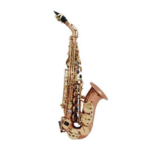 Sax Soprano Curvo Zion By Plander Sc1010l Gold Brass Semi-p