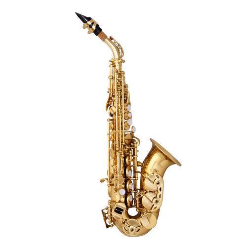 Sax Soprano Curvo Zion By Plander SC300L Laqueado