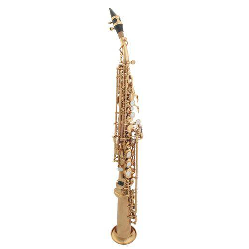 Sax Soprano Dolphin 5330 Sib Laqueado