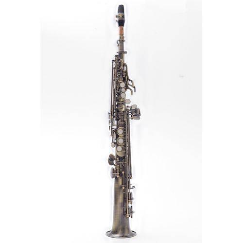 Sax Soprano Reto Prowinds em Si Bemol (Bb) com Corpo Envelhecido e Case em Canvas - PW310-A