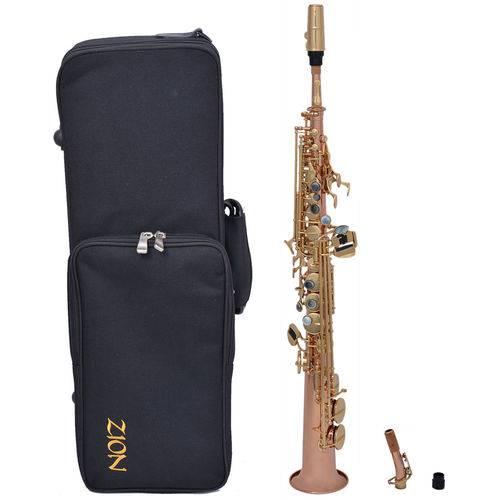 Sax Soprano Zion By Plander Ss1010l Laqueado Gold Brass Sem