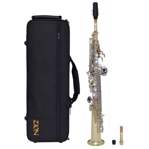 Sax Soprano Zion By Plander Ss400ln Laqueado, Chaves Niquel