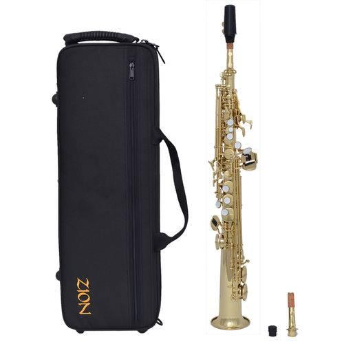 Sax Soprano Zion By Plander Ss400lx Laqueado, Boquilha Yama