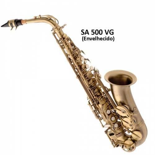 Saxofone Alto Eagle Envelhecido Sa500 Vg em Mib com Case Extra Luxo