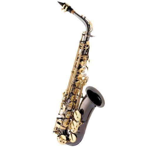 Saxofone Alto Eagle Sa500 Bg Preto Onyx + Case