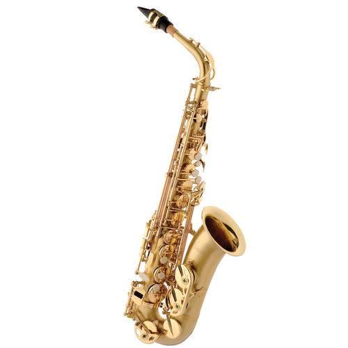 Saxofone Alto Eagle Sa500 Bgd Dourado Escovado + Case