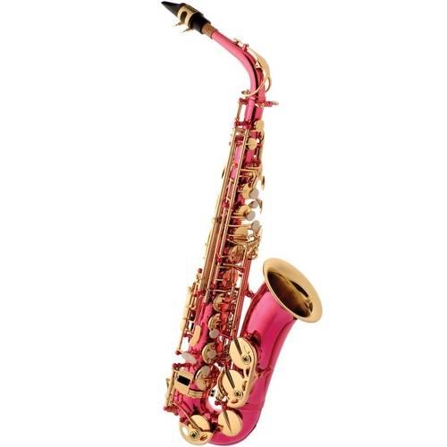 Saxofone Alto Eagle Sa500 em Mib (Eb) com Case - Rosa Pink