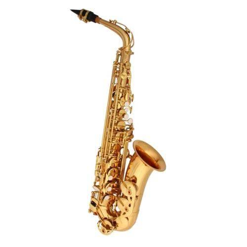 Saxofone Alto Eb Laqueado Dourado com Estojo Harlem