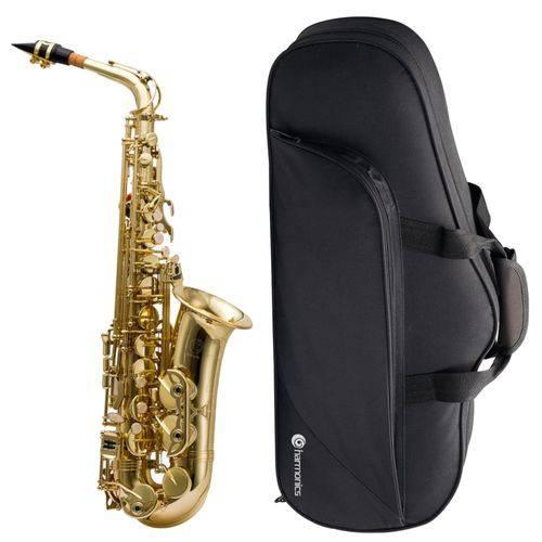 Saxofone Alto Mi Bemol (Eb) Laqueado HAS-200L + Case - Harmonics