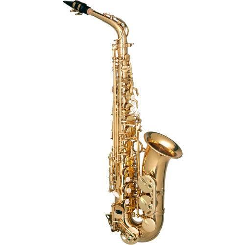 Saxofone Alto Mib Eb Laqueado Dourado Hofma HSA400 By Eagle