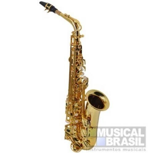 Saxofone Alto Ny As200g em Mib (Eb) com Case - Dourado (Banhado a Ouro)