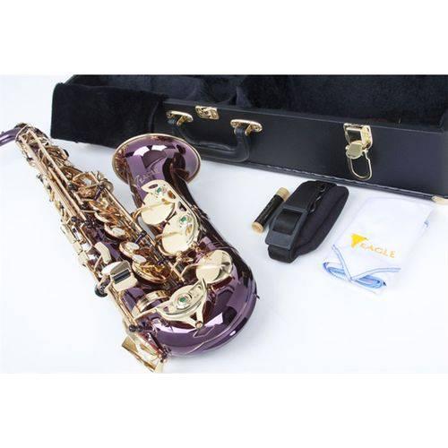 Saxofone Alto SA500 TP Eagle Violeta Dourado em Mib com Case