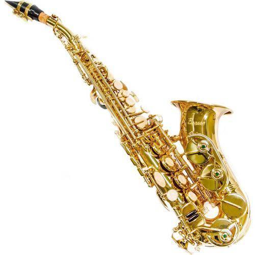 Saxofone Benson Soprano Curvo Bssc-1l em Bb Laqueado