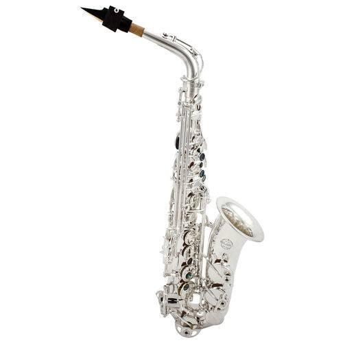Saxofone Milano Niquelado Prateado Premium Kit