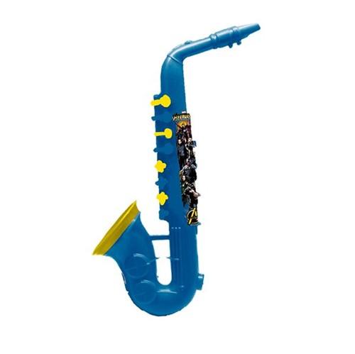 Saxofone Musical Infantil Vingadores Azul Toyng