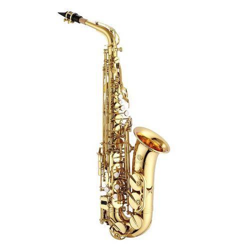 Saxofone Sax Alto Dourado Mib 567 Jupiter Jas500gl Laqueado