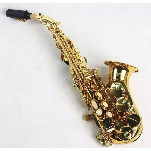 Saxofone Soprano Curvo em Sib Laqueado com Estojo