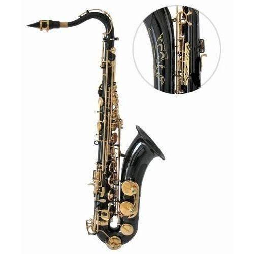 Saxofone Tenor Sib Bb Halk Preto com Chaves Douradas