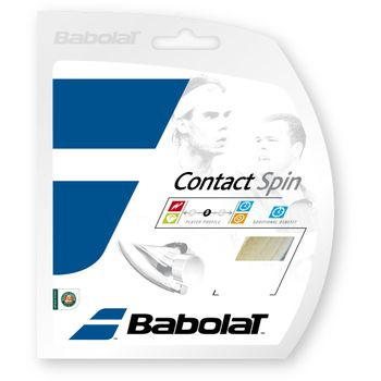 Set de Corda Babolat Contact Spin 16L 1.30 Branca
