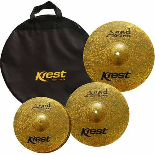 Set Pratos 141620 Abset3 Aged Brass Krest C/bag