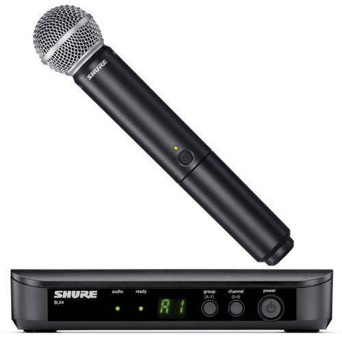 Shure BLX24/SM58   Microfone Sem Fio de Mão