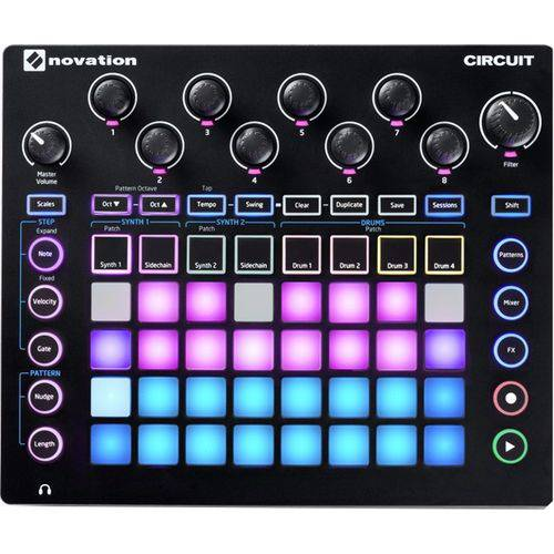 Sintetizador Novation Circuit Step Synth