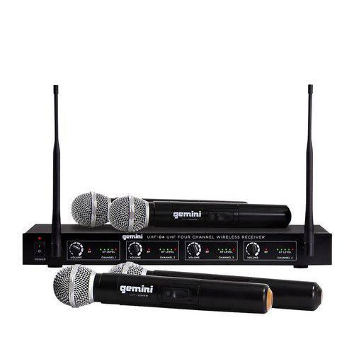 Sistema de Microfone Sem Fio Gemini UHF6100M
