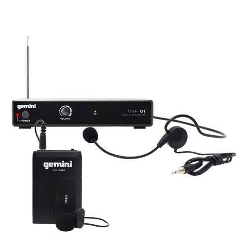 Sistema de Microfone Headset e Lapela Sem Fio Gemini VHF-01HL