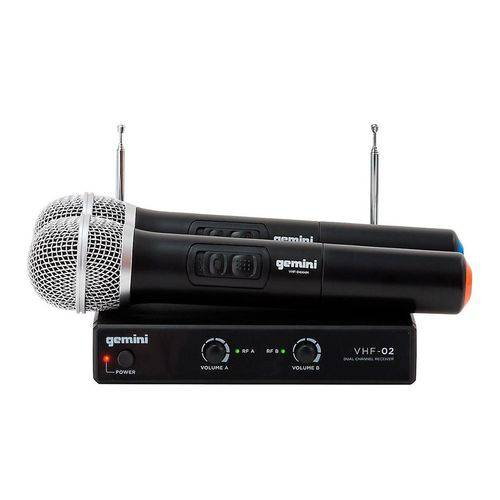 Sistema de Microfone Sem Fio Duplo Gemini VHF-02M