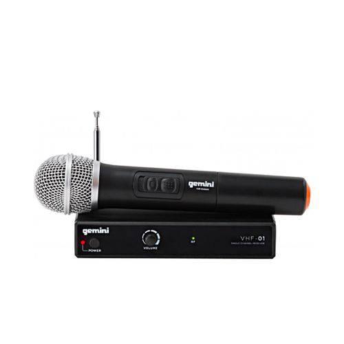Sistema de Microfone Sem Fio Gemini VHF-01M