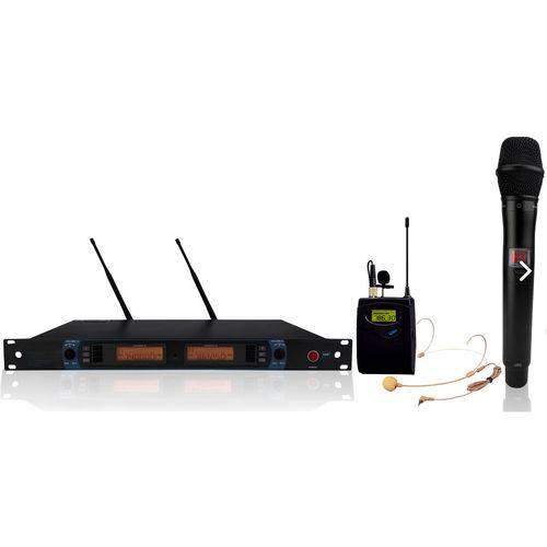 Sistema de Microfone Sem Fio Headset e Vocal K-882c - Kadosh
