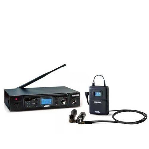 Sistema de Retorno Sem Fio Karsect VMT50 + E50 PRO UHF com Fone de Ouvido