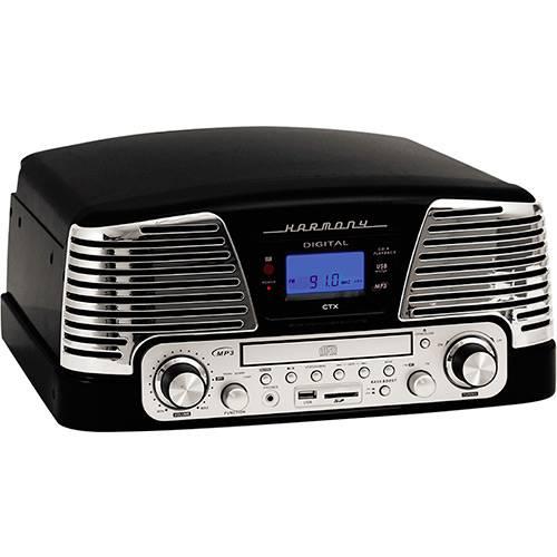 Sistema de Som Hi-Fi com Toca-Discos, CD Player, USB e SD Bivolt CTX Harmony - Preto