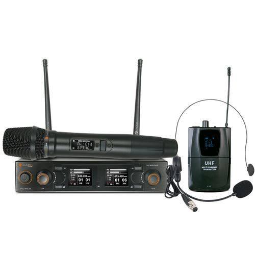 Sistema Microfone Sem Fio Vocal e Headset Kdsw-502c - Kadosh