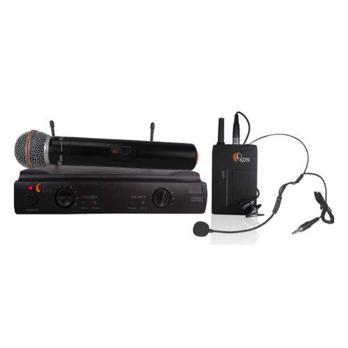 Sistema Microfone Sem Fio Vocal/headset Kdsw 402c Uhf Kadosh