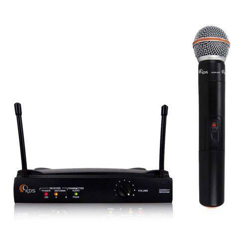 Sistema Microfone Vocal Sem Fio Uhf Kdsw-401m - Kadosh