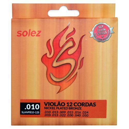 Solez - Encordoamento 0.010 para Violão 12 Cordas Slanpb10