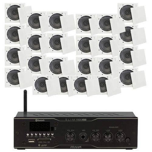 Som Ambiente 40 Watts com 12 Caixas de Teto com FM, Entrada USB, Bluetooth, APP - KIT AMB 12 USB FM
