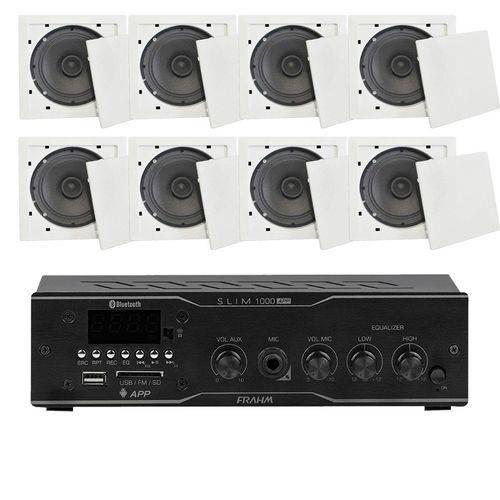 Som Ambiente Voxtron Kit 8 Caixas de Teto 40W FM/USB/BT/APP