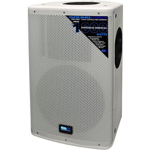 """Soundcast - Caixa Ativa 15"""" 2vias 600w Rms Hdm115a Wh"""