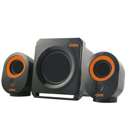 Speaker 2.1 Booster Sk500 30w Preto Oex