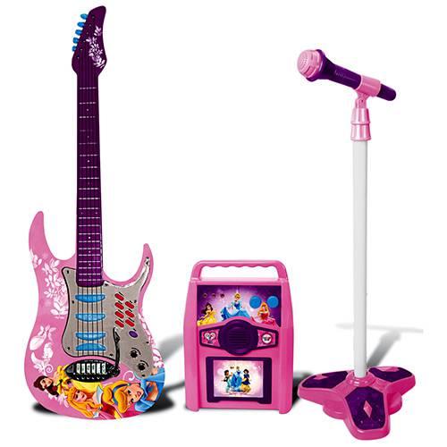 Star Show Princess Guitarra + Microfone + Amplificador - Yellow